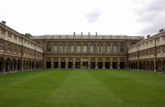 Part of Trinity College at Cambridge University.